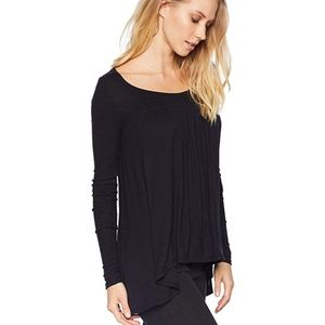 Free People Black Long Valley Long Sleeve Small